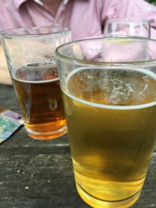 picture showing two half pints of beer